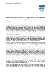 thumbnail of Pressemitteilung_IDAG GmbH erhält Qualitätssiegel